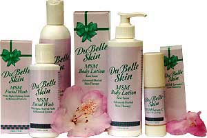 Image of various DuBelleSkin products.